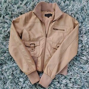 Cropped tan jacket